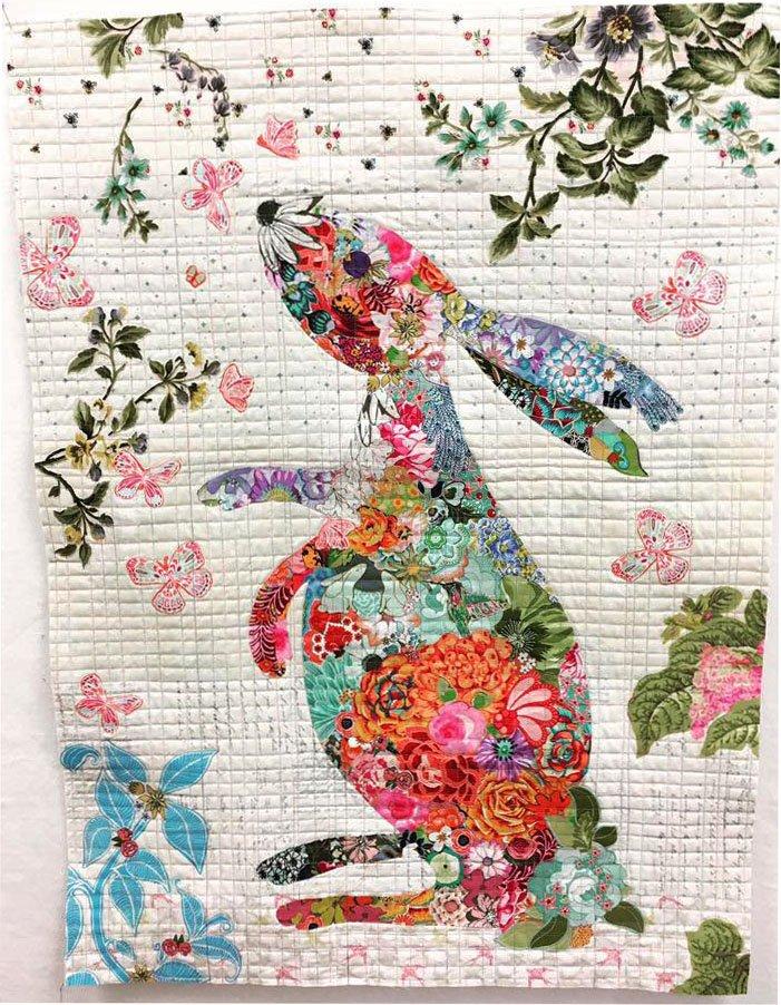 collage quilt class hip hop bunny