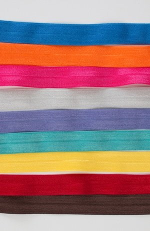 5/8 Fold Over Elastic WHITE - By Annie