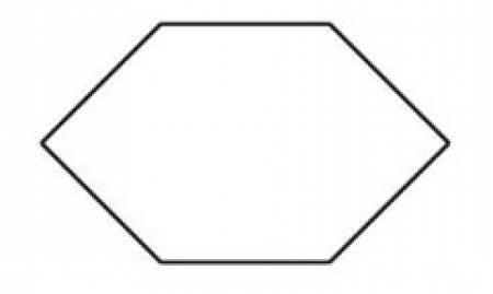 1 Elongated Hexagon template - 701715774360