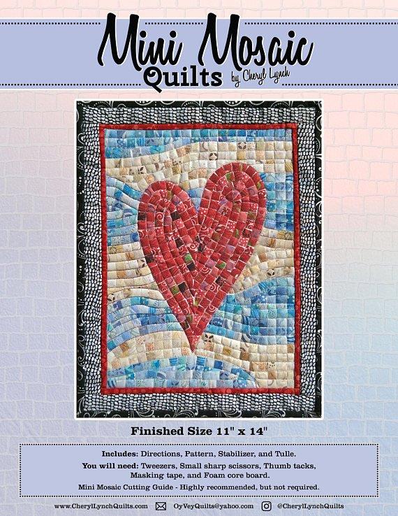 Mosaic Hearts Pattern - Mini