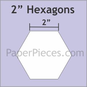 Paper Pieces 2 hexagon papers 25 pcs