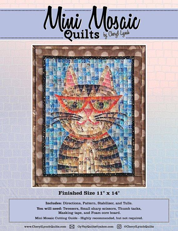 Mosaic Hipster Kitty Pattern - Mini