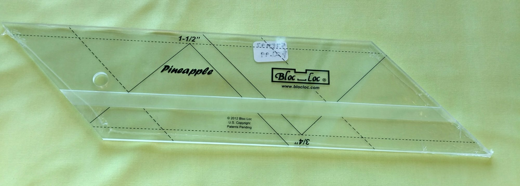 Pineapple BlocLoc Ruler 3/4 x 1-1/2