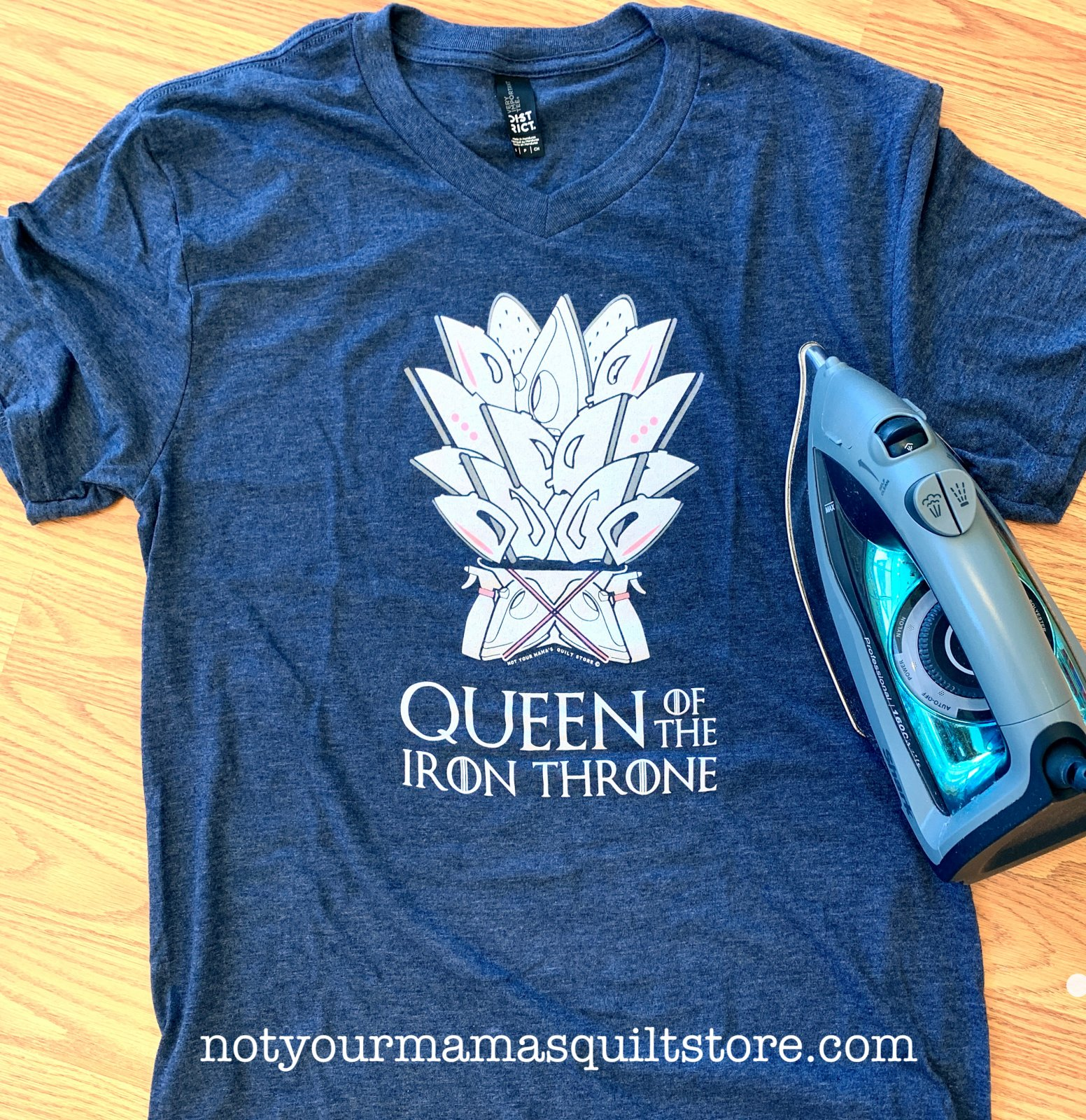 Queen of the Iron Throne T-Shirt - Heather Navy