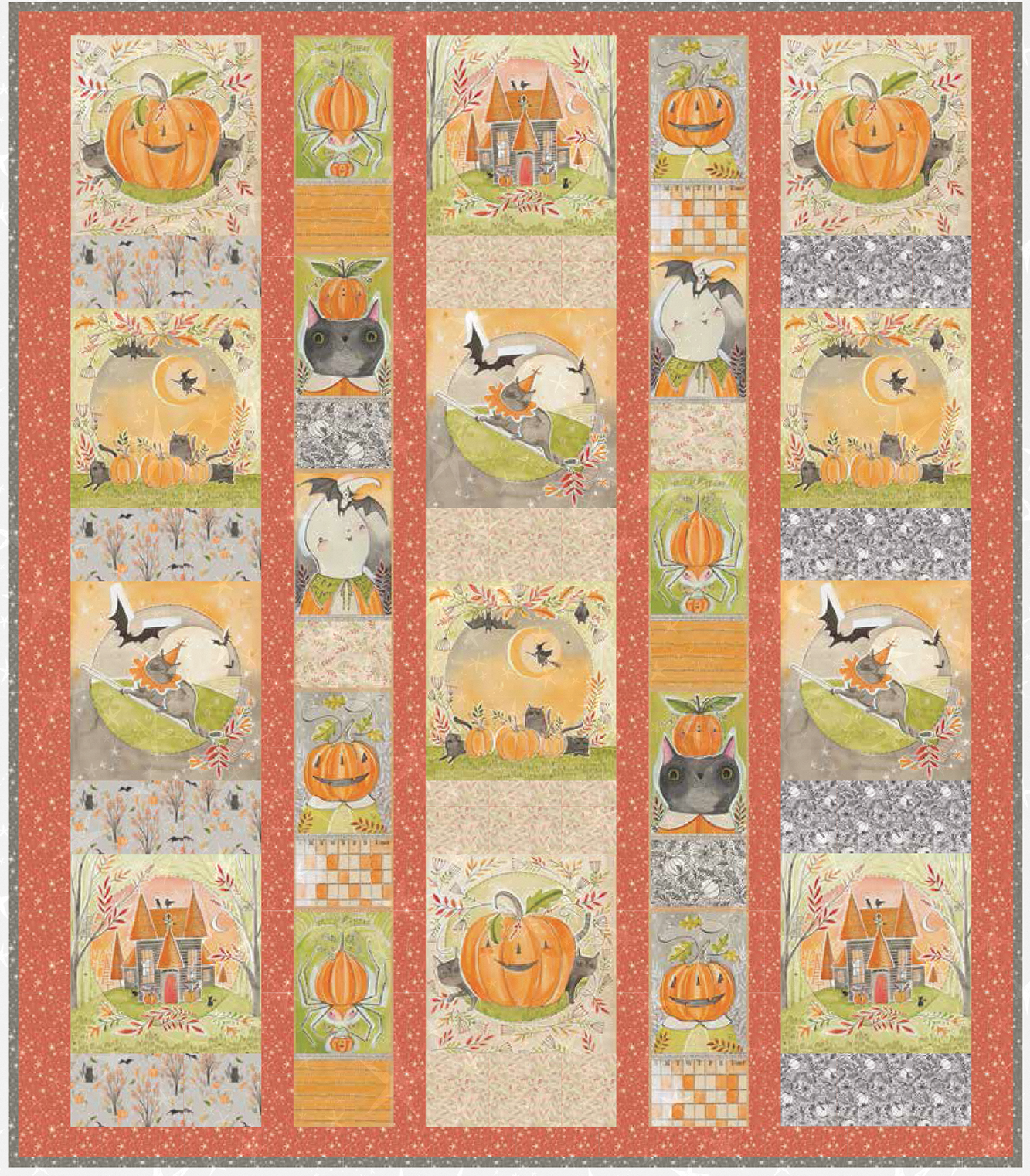 Menagerie Halloween Kit - featuring Happy Halloweeny fabric