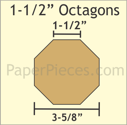 Paper Pieces - 1 1/2 Octagon Template