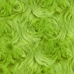 Minky Rosebud Apple Green