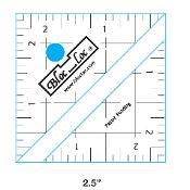 Bloc Loc Half Square Triangle Ruler 2.5