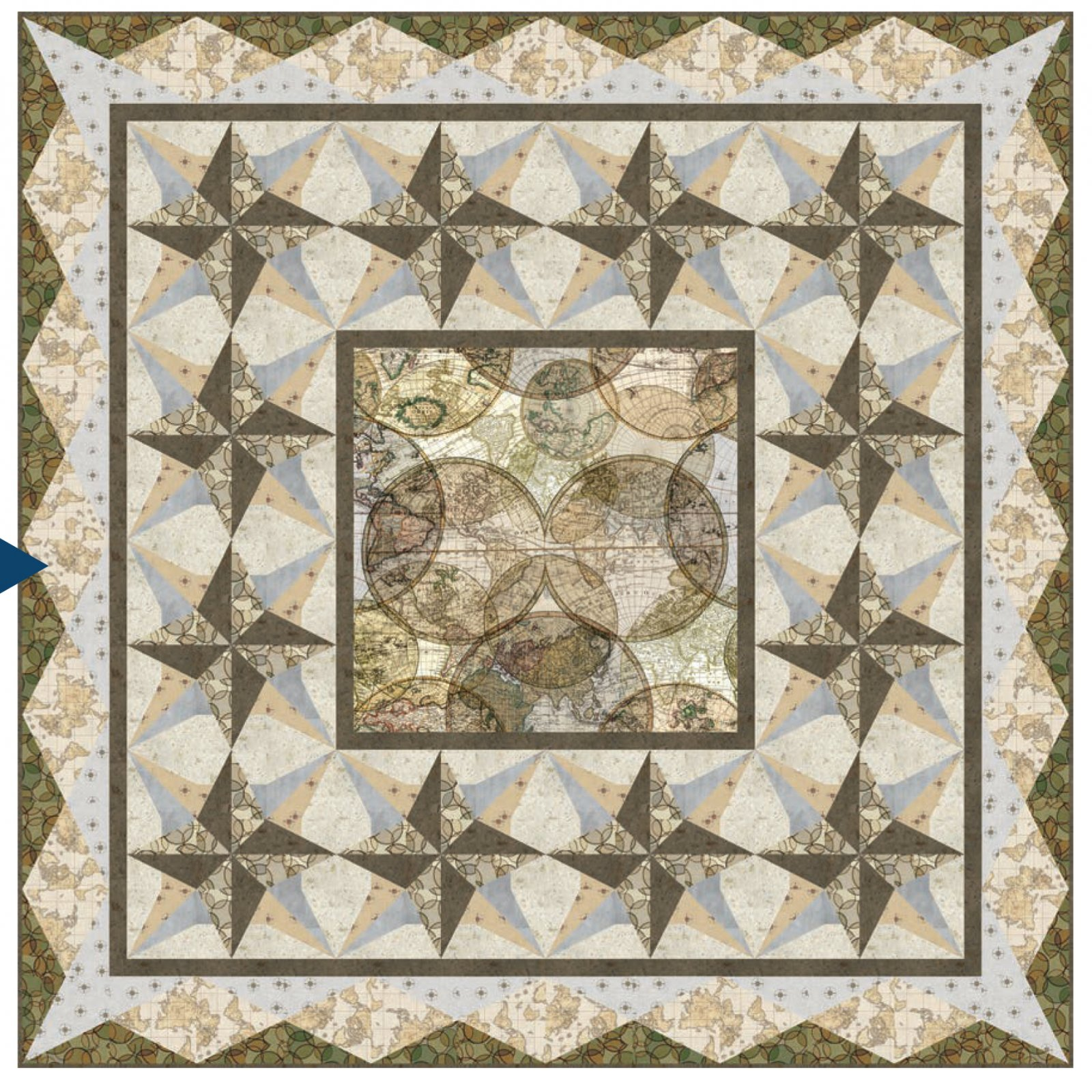 Compass Point Quilt Kit