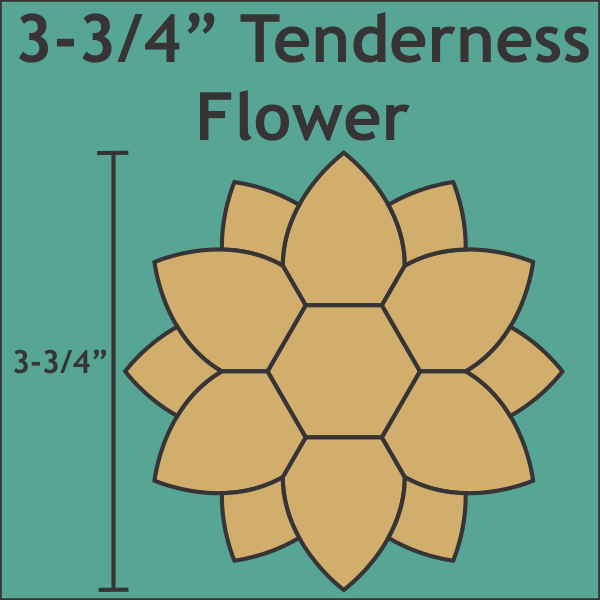Tenderness Flower ( mini)  Paper Pieces