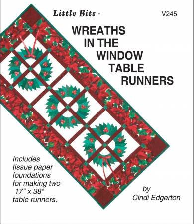 Wreaths in The Window Table Runners