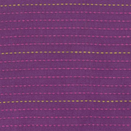 Dotted Line Eggplant Woven