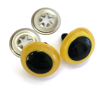 Animal Eyes - yellow 21mm (5 pr)