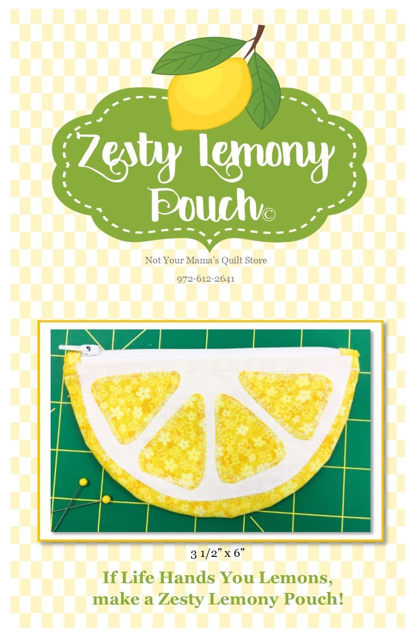 Zesty Lemony Pouch Pattern