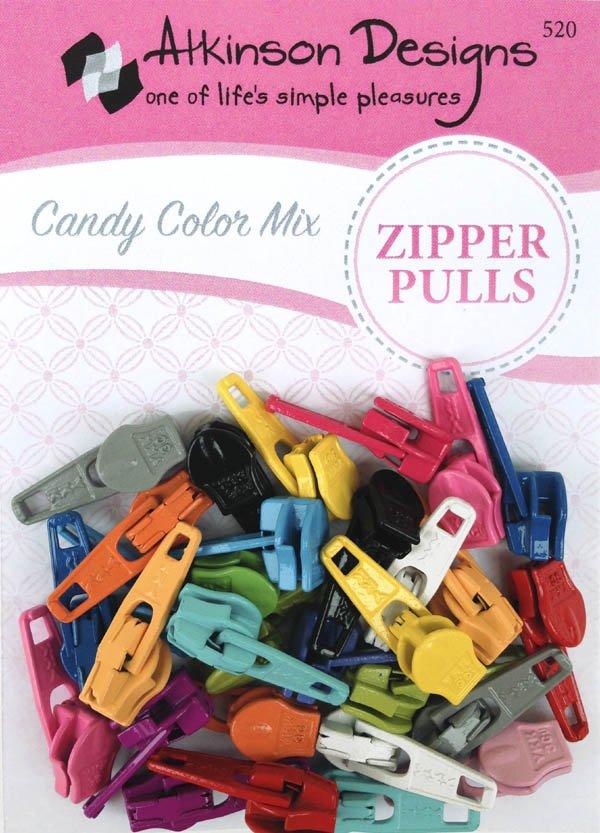 Atkinson Zipper Pulls - Candy Color Mix