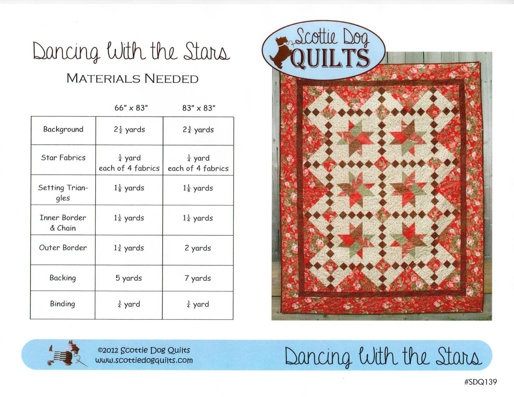 Dancing With The Stars Quilt Pattern