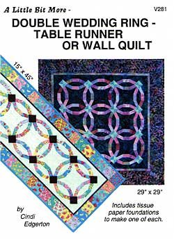 Double Wedding Ring Wall Quilt or Table Runner