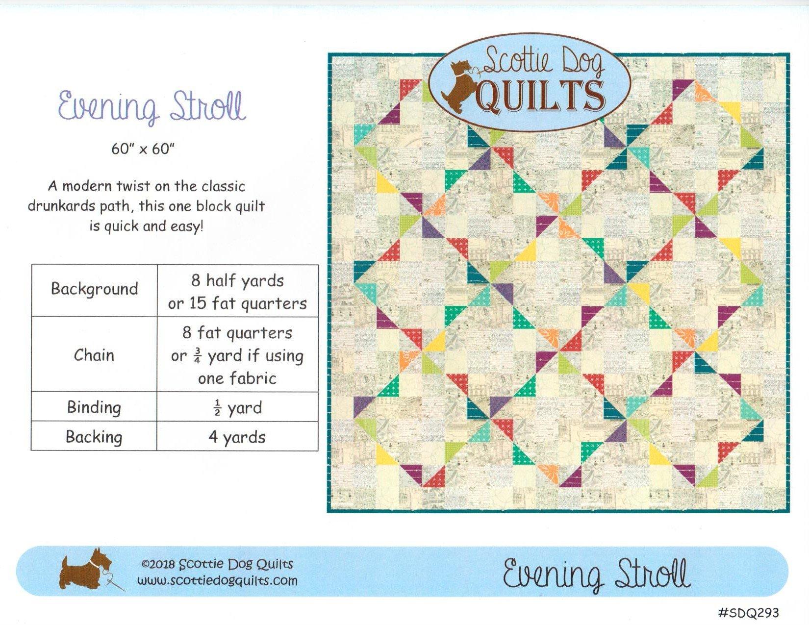 Evening Stroll Quilt Pattern