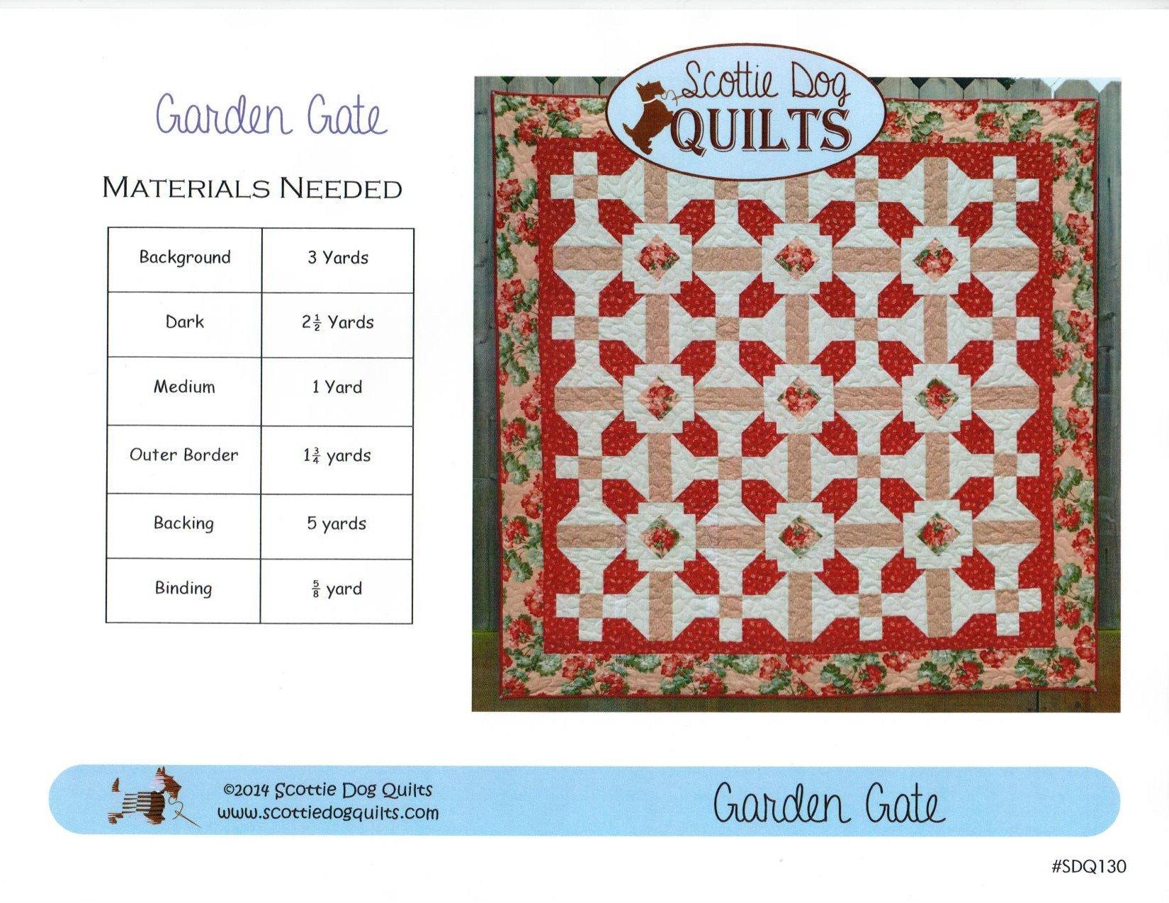 Garden Gate Quilt Pattern 79 x 79