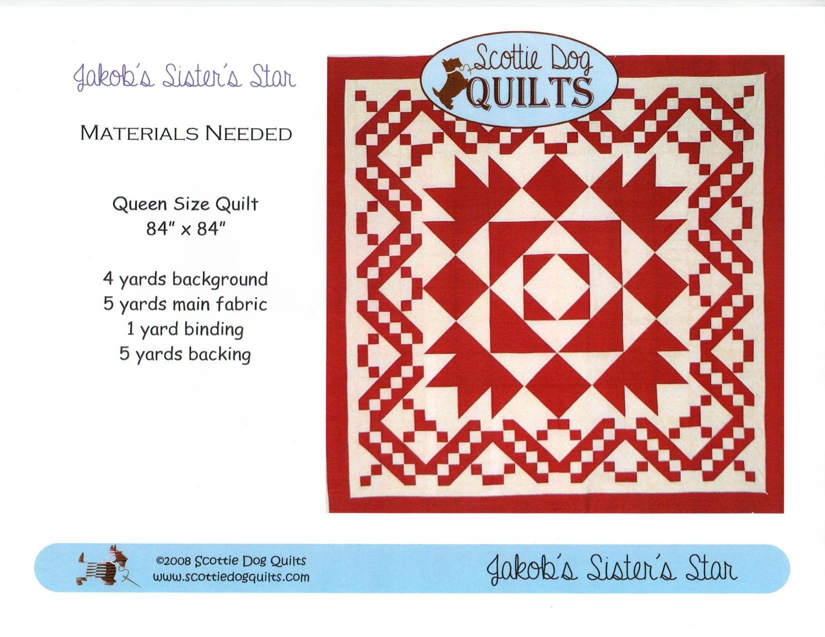 Jakob's Sister's Star Quilt Pattern