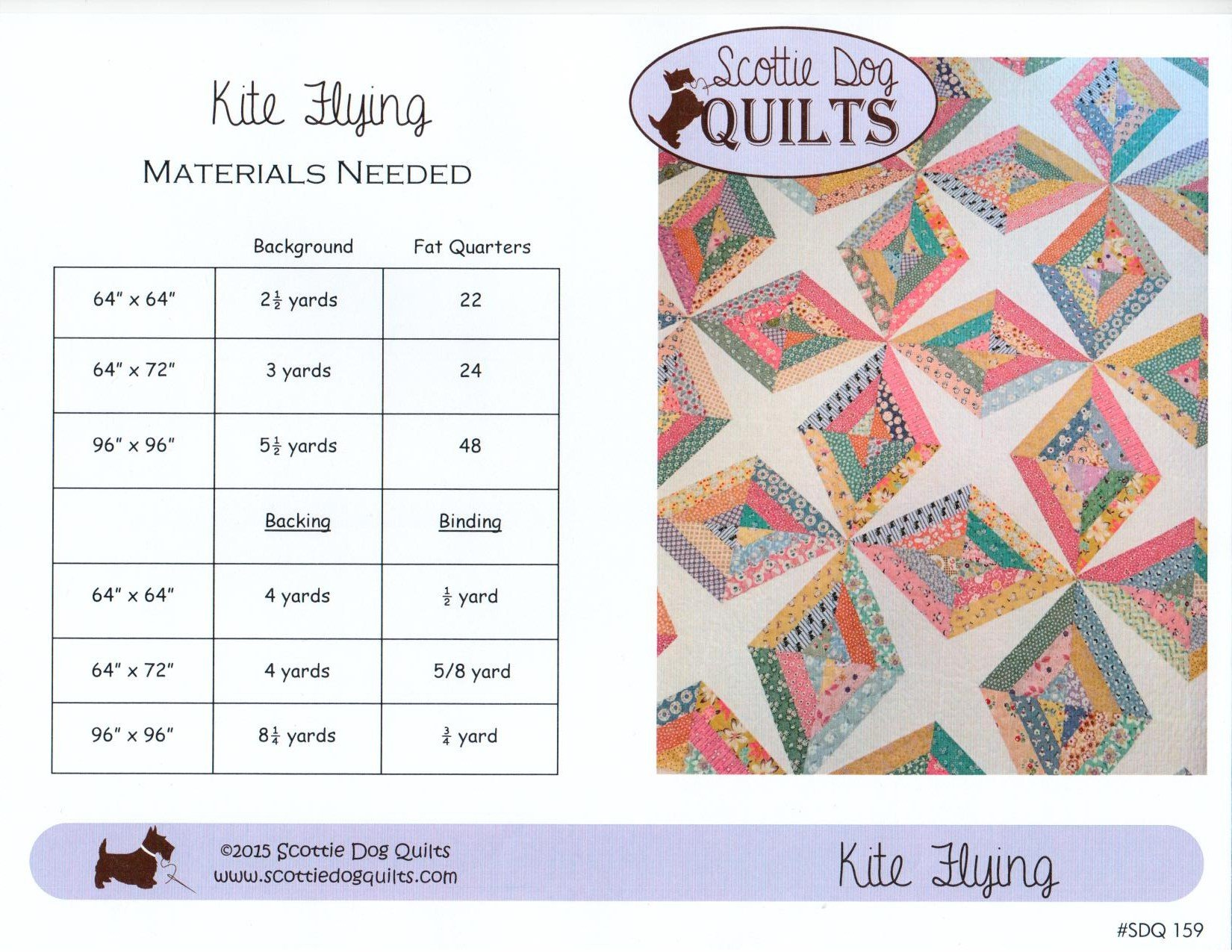 Kite Flying Quilt Pattern