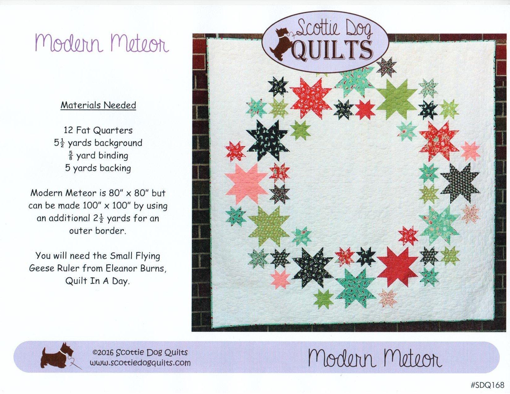 Modern Meteor Quilt Pattern