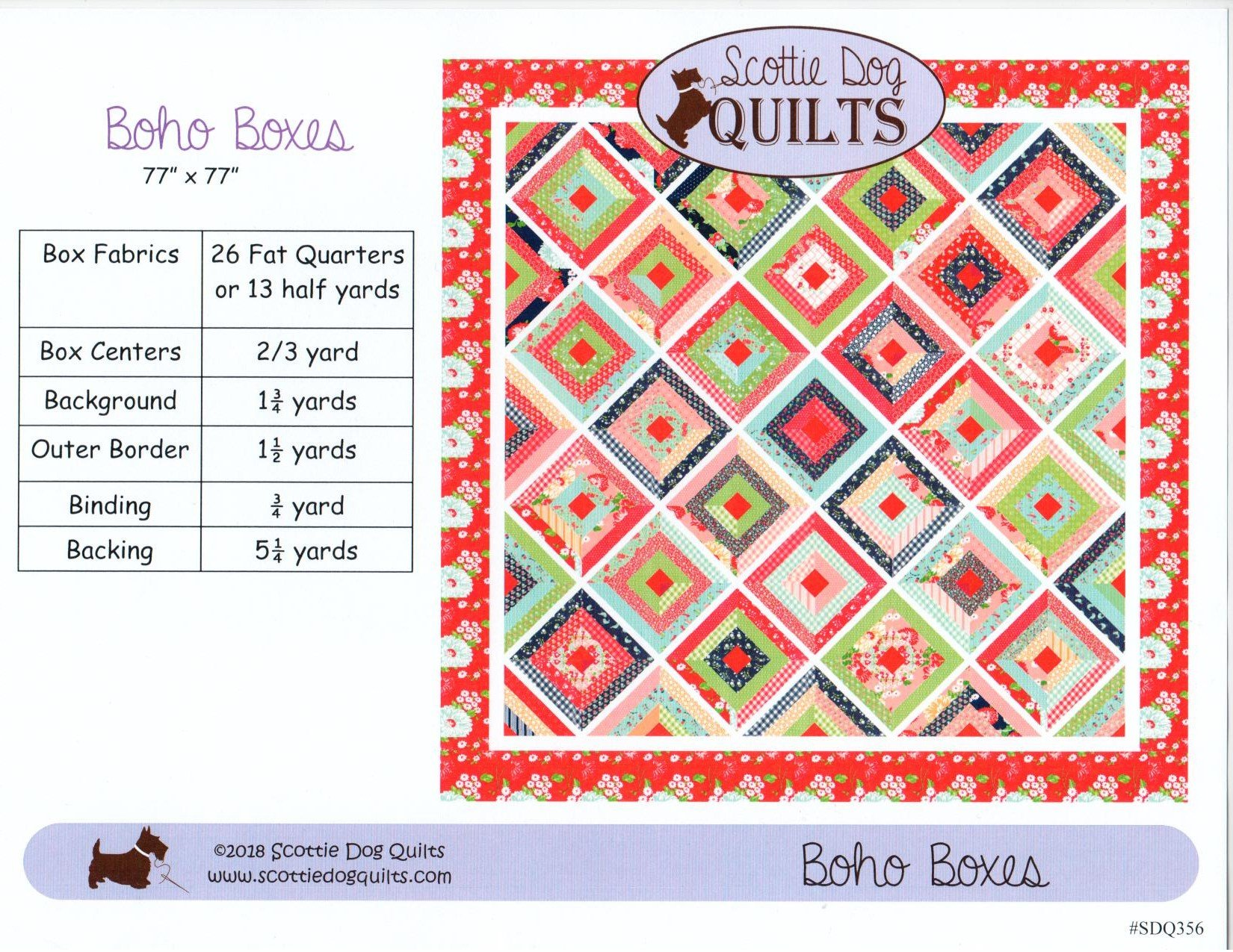Boho Boxes Quilt Pattern