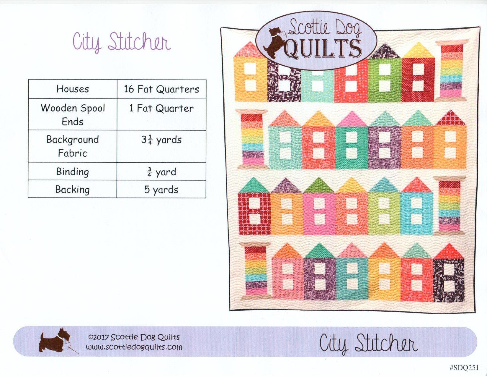 City Stitcher Quilt Pattern 69 x 81