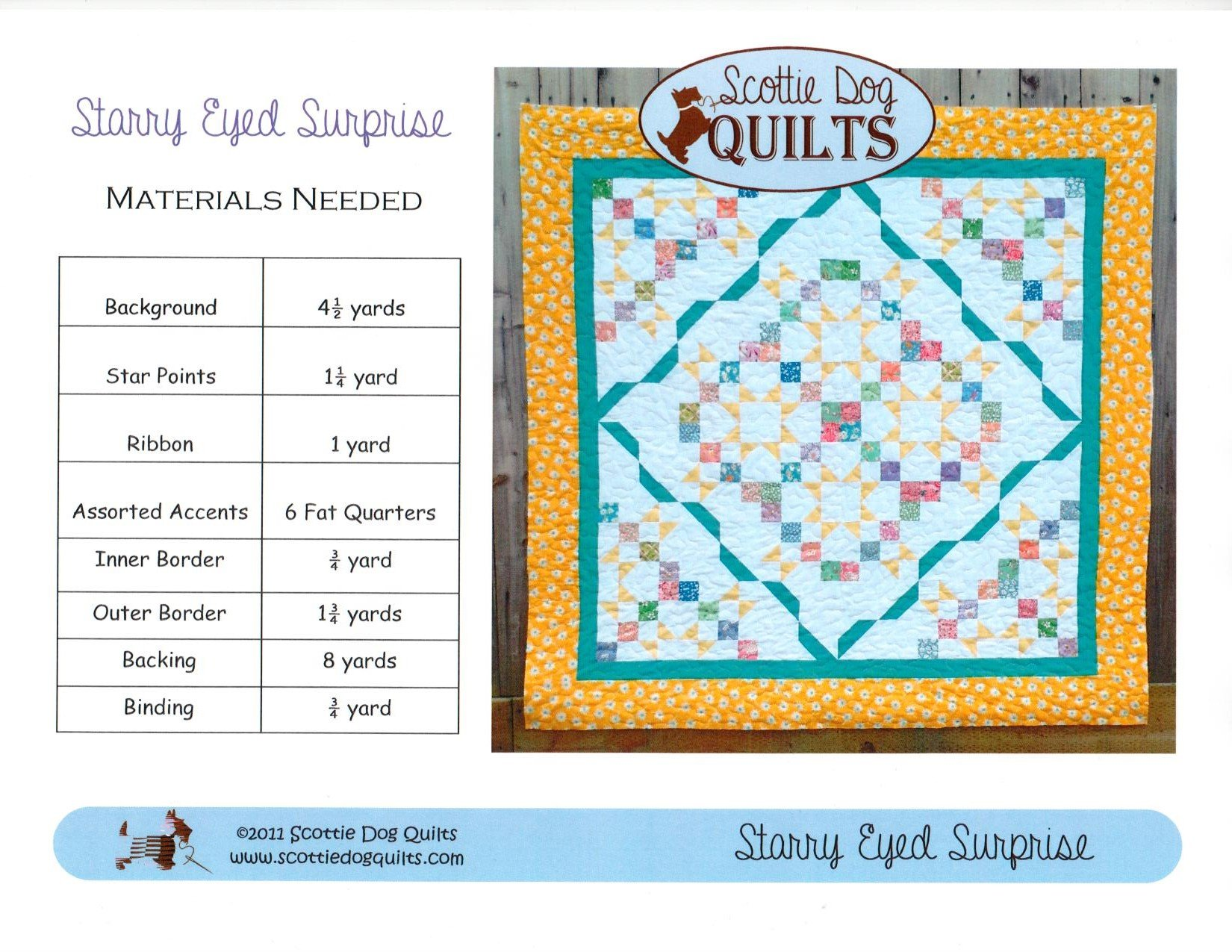 Starry Eyed Surprise Quilt Pattern 88 x 88