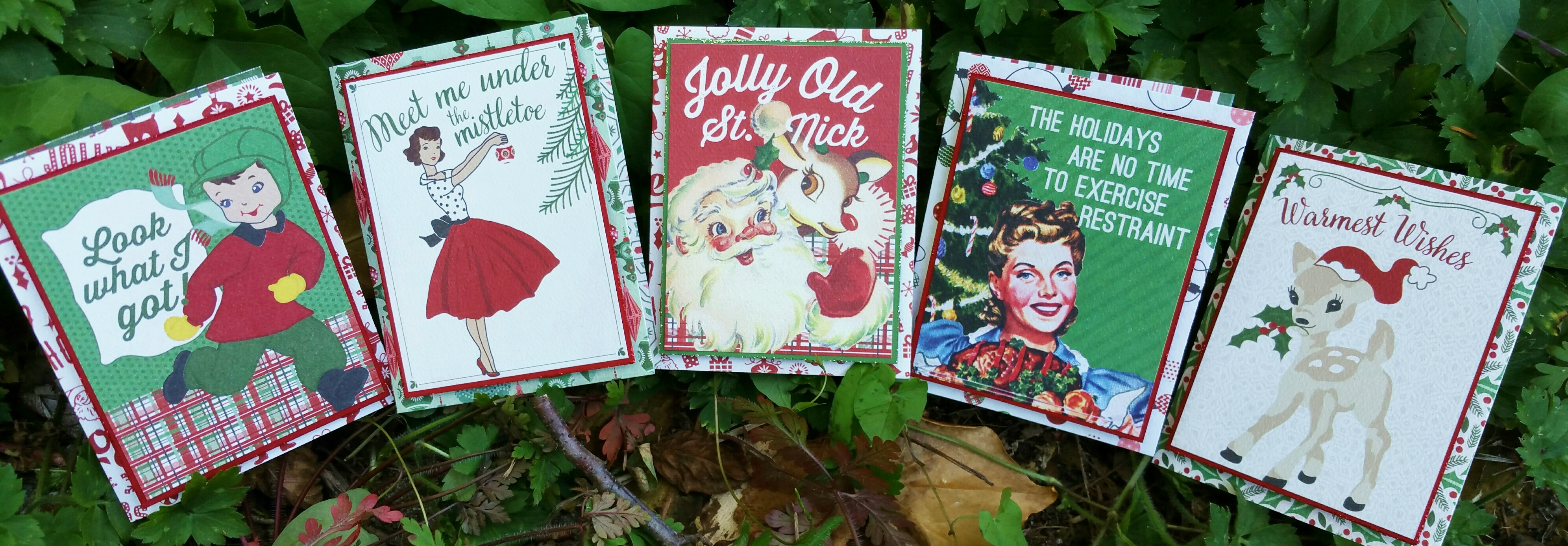 RETRO CHRISTMAS CARDS SMALL PROJECT
