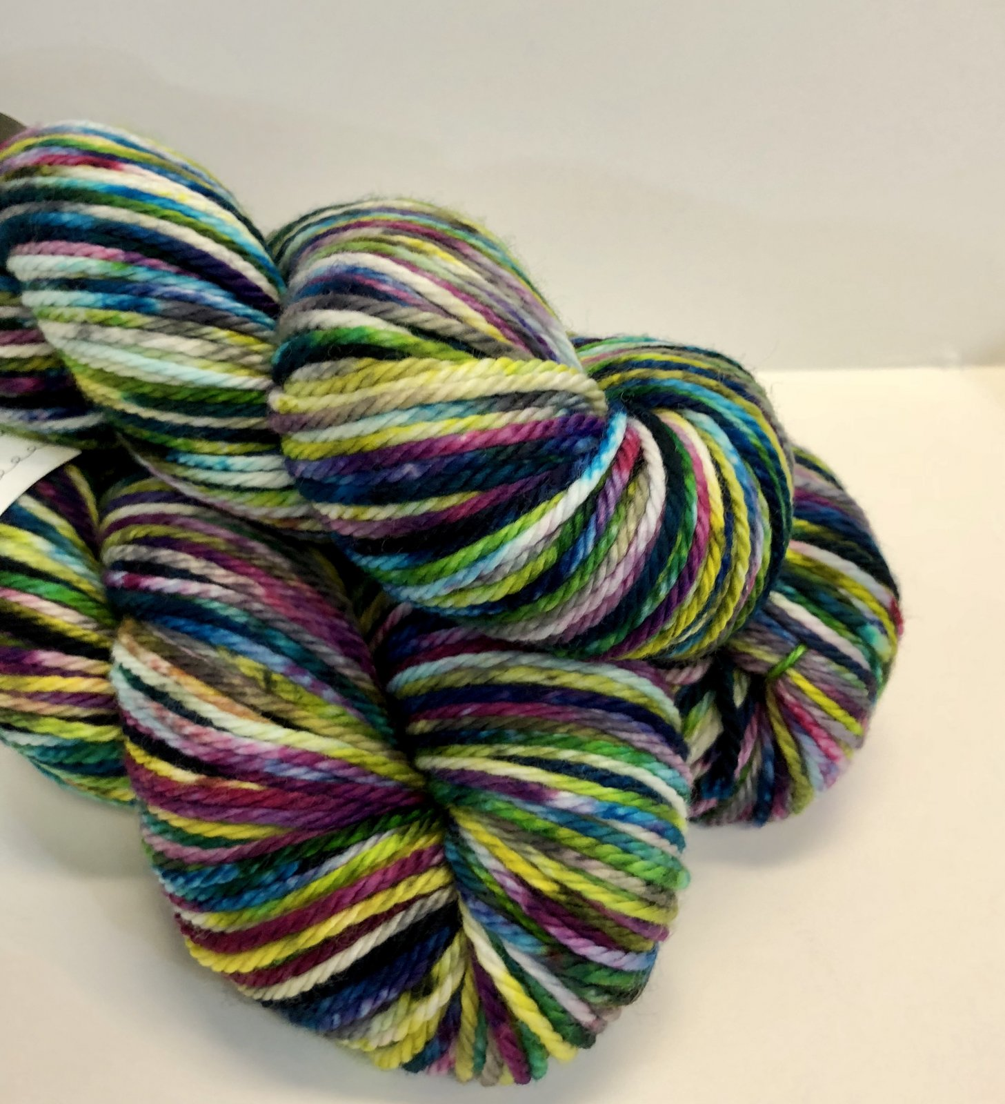 Knitted Wit Hand Dyed Aran Yarn