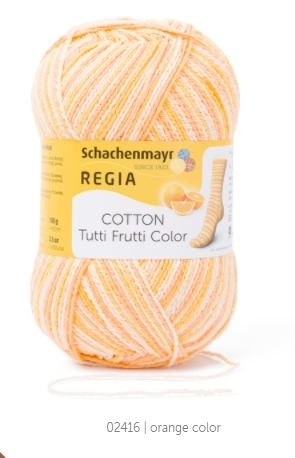 Regia Cotton Tutti Frutti Color Sock  Yarn