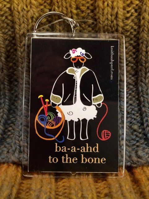 Knit Baah Purl Key Chains and Bag Tags