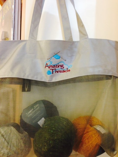 Amazing Threads Logo Mesh Tote