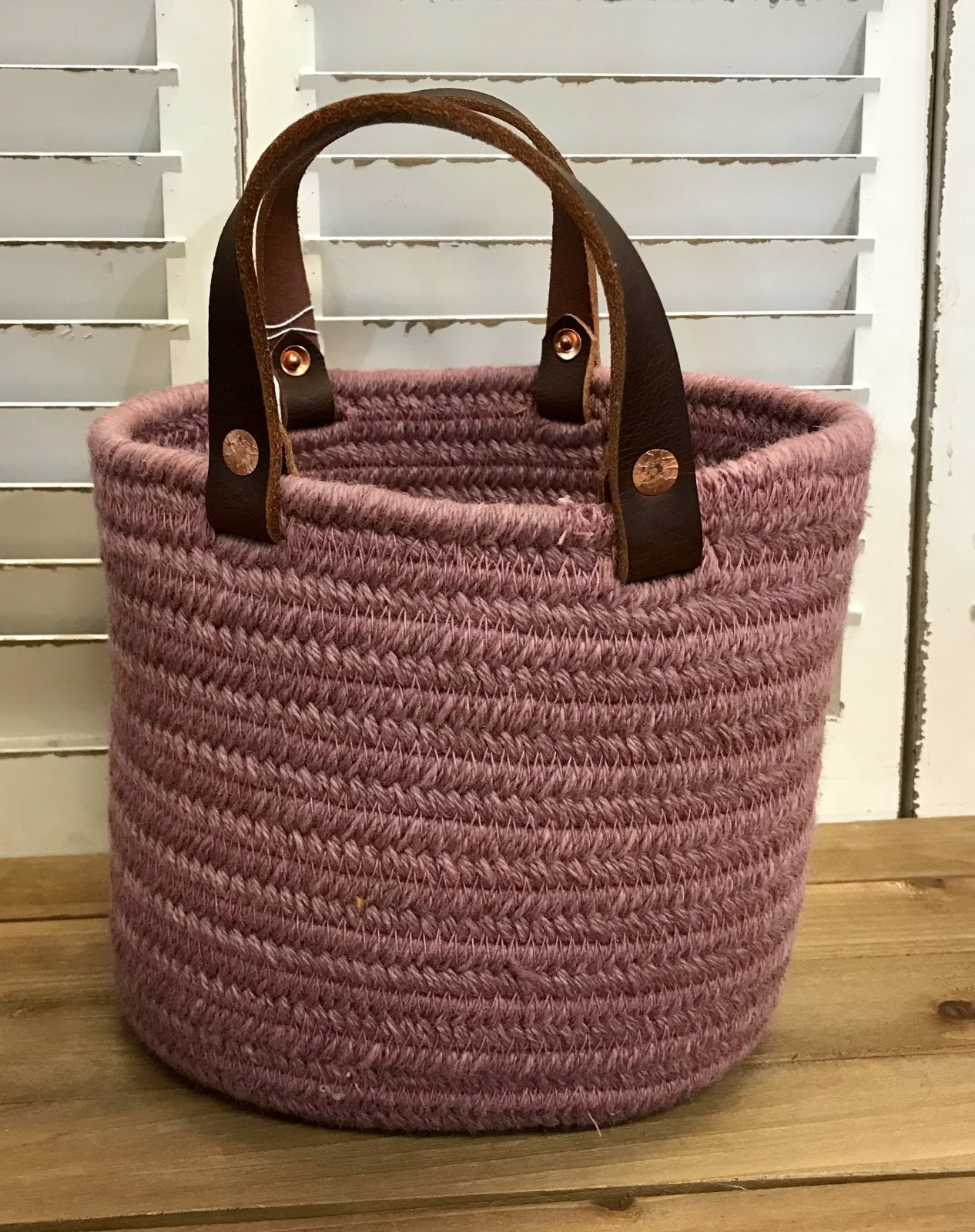 New Zealand Wool Braided Baskets Made in the USA