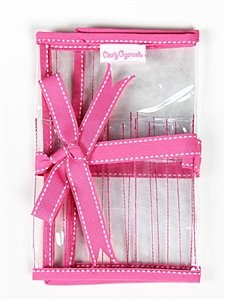 Pink Trim Organizer Case for 6 Double Point Needles