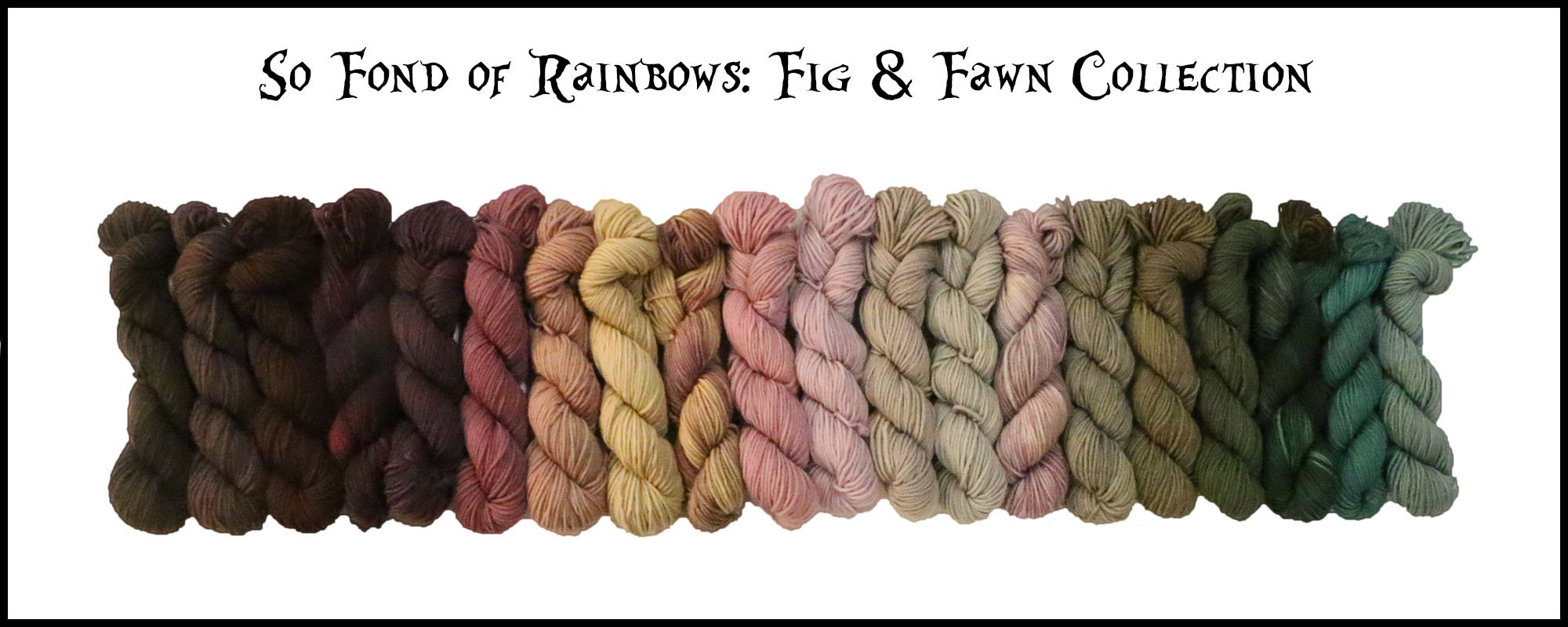 Frabjous Fibers So Fond of Rainbows Yarn /March Hare