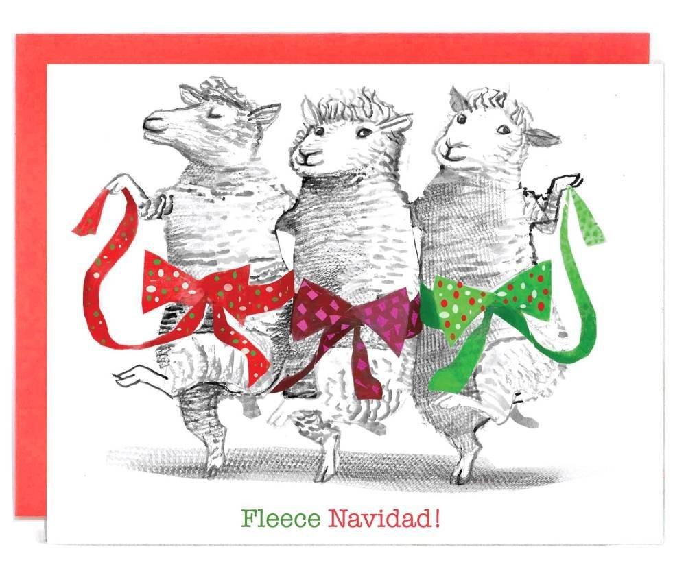 Fleece Navidad Holiday Card by Artiphany
