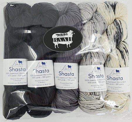 Baah Shasta Hug Hug Kiss Kiss Shawl Kits