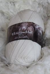 White Gum Wool 8 Ply/DK Merino Yarn