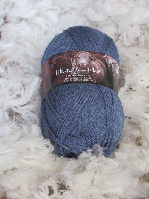 White Gum Wool Silk/Merino 5-Ply Yarn