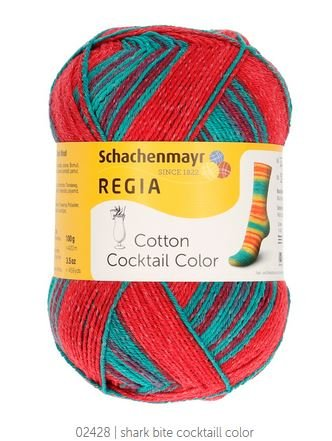 Schachenmayr Regia 4-Ply Cotton Cocktail Color Sock Yarn