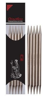 ChiaoGoo Stainless Steel 6 Double Point Knitting Needle