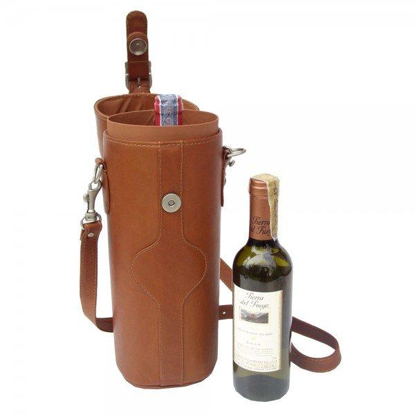 Piel 2355 Single Deluxe Wine Carrier*