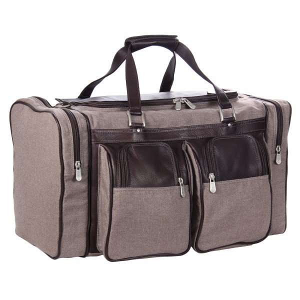 Piel 3038 20 in. Canvas Duffel Bag with Pockets*