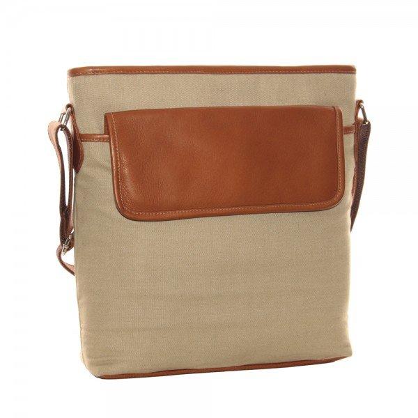 Piel 3062 Front Flap Canvas Shoulder Bag*