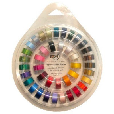 QUILTERS SELECT PW MULTI-COLOR  BOBBINS - 40 COUNT