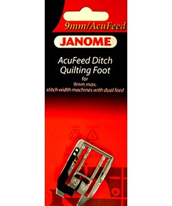 JANOME ACCUFEED DITCH FOOT 9MM