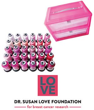 LIMITED EDITION FLORIANI PINK THREAD BOX AND 30 SPOOLS OF PINK THREAD