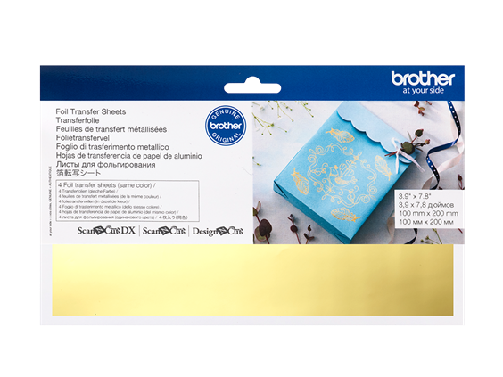 BROTHER SCAN N CUT FOIL TRANSFER SHEETS GOLD